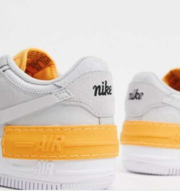 Nike Air Force 1 Grey and Orange