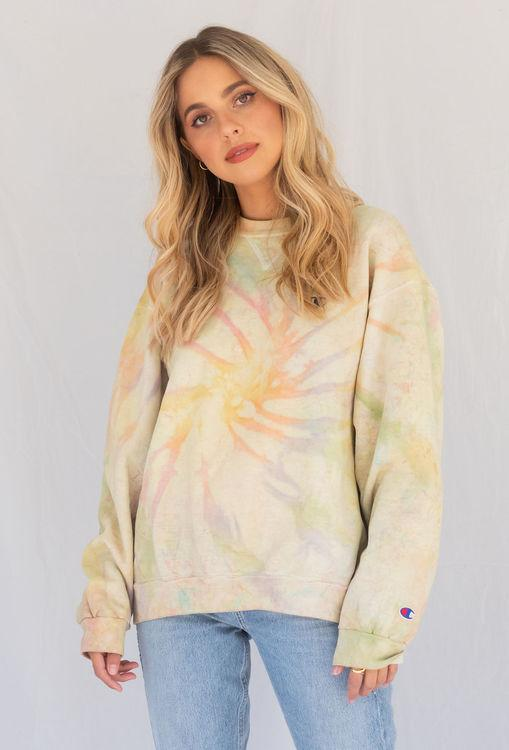 vintage champion tye dye sweater