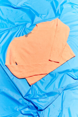 Orange Cashmere Cropped Jumper