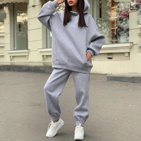 Simple hoodie and trackpants set