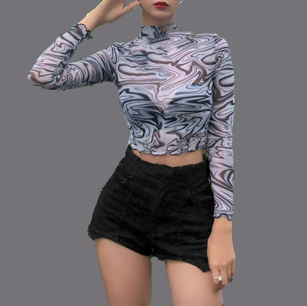 90s Cropped Mesh Top
